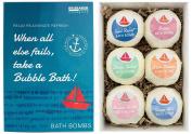 BRUBAKER Cosmetics Bath Bombs 'When all else fails, take a Bubble Bath' Gift Set - Handmade and Natural