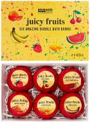BRUBAKER Cosmetics Bath Bombs 'Juicy Fruits' Gift Set - Handmade and Natural