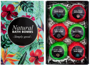 BRUBAKER Cosmetics Bath Bombs 'Jungle' Gift Set - Handmade and Natural