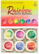 BRUBAKER Cosmetics Bath Bombs 'Rainbow' Gift Set - Handmade and Natural