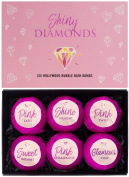 BRUBAKER Cosmetics Bath Bombs 'Shiny Diamonds' Gift Set - Handmade and Natural