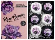 BRUBAKER Cosmetics Bath Bombs 'Rose Bombs' Gift Set - Handmade and Natural
