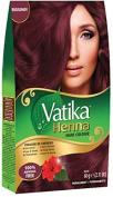 Vatika Henna Hair Colour Burgundy (6 X 10g sachets) No ammonia