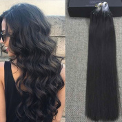 Full Shine 46cm 1g per Strand 50 Gramme Per Package Salon Quality Loops Micro Ring Beads Hair Extensions Colour #1B Off Black Remy Loop Micro Bead Hair Extensions