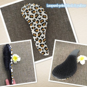 Full Shine Detangling Brush for Kids and Adults No Tangle Brush and No Pain Brush Using As Hair Brush or Hair Comb Colour Leopard-print Black & Yellow
