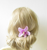 Lilac Light Purple Orchid Flower Hair Clip Rockabilly 1950s Vtg Hawaiian 1265 *EXCLUSIVELY SOLD BY STARCROSSED BEAUTY*