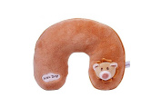 Protege Cou - cale-tetes Car Pillow Child Teddy Bear Beige