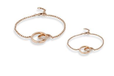 Mother & Daughter Infinity Bracelet Set (18k Rose Gold Plated)