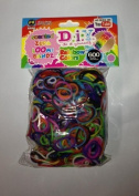 3600 Count Scented Rainbow Colour Loom Bands Refill 6 Pack