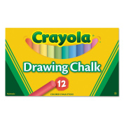 Crayola Coloured Drawing Chalk, Assorted Colours 12 Sticks/Set
