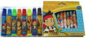 Jake and The Never Land Pirates Jumbo Crayon & Marker Set - Disney Adventures