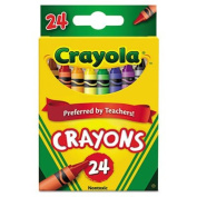 Crayola LLC Products - Crayon Set, 7.6cm - 1.6cm , Permanent/Waterproof, 24/BX, Assorted - Sold as 1 BX - Bright, quality Crayola crayons in peggable box produce brilliant, even colours. Crayons are permanent and waterproof. Colours include black, blue ..