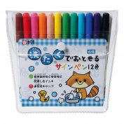 Sakura 12 colour felt-tip pen disappear in the washing