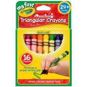 My First Crayola Washable Triangular Crayons-16/Pkg