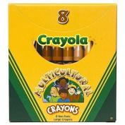 CRAYOLA LLC MULTICULTURAL CRAYONS LARGE 8PK