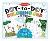 Melissa & Doug ABC 123 Wild Animals Dot-To-Dot Colouring Pad