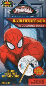 Marvel Ultimate Spiderman Classroom Exchange Cards 16 Valentines with 16 Colouring Tools
