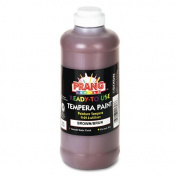 Prangamp;reg; - Ready-to-Use Tempera Paint, Brown, 470ml - Sold As 1 Each - Creamy, smooth texture and bright, non-setting colours that blend easily.
