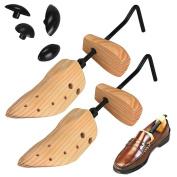 Elevin(TM)Men Women Wooden Shoe Stretcher,Size 6-12, Adjustable Professional Pair of Premium Professional 2-way Cedar Shoe Trees