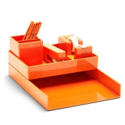 Poppin All Set, Desk Collection Set, Orange