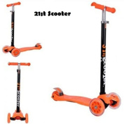 Tilt Kickboard Scooter T-Bar 3 Wheel Kick Pedal Scooter for Boys Girls Children Outdoor Fun Toy Mini 3 Wheel Tri-Scooter