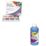 KITCYO543115042PENPHN36 - Value Kit - Pentel Oil Pastel Set With Carrying Case (PENPHN36) and Crayola Artista II Washable Tempera Paint