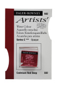 Daler Rowney Artists' Quality Water Colour Half Pan - 502 Cadmium Red Deep