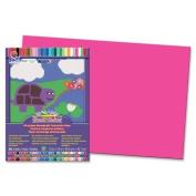 SunWorks Groundwood Construction Paper - 46cm x 30cm - Hot Pink