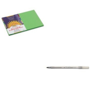 KITBICGSM11BKPAC9607 - Value Kit - Sunworks Construction Paper (PAC9607) and BIC Round Stic Ballpoint Stick Pen