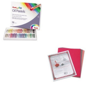 KITPAC103637PENPHN36 - Value Kit - Pentel Oil Pastel Set With Carrying Case (PENPHN36) and Pacon Riverside Construction Paper