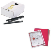 KITFEL52367PAC103637 - Value Kit - Fellowes Plastic Comb Bindings (FEL52367) and Pacon Riverside Construction Paper