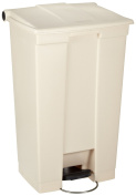Rubbermaid Commercial Polyethylene 87.1l Fire-Safe Step-On Receptacle, Rectangular, Beige