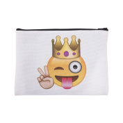 Mens Ladies Toiletry Bag Vanity case, make up, purse, pencil case, phone handbag, jewellery Emoji King [045]