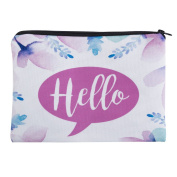 Mens Ladies Toiletry Bag Vanity case, make up, purse, pencil case, phone handbag, jewellery Hello Pastel Flowers [045]