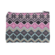 Mens Ladies Toiletry Bag Vanity case, make up, purse, pencil case, phone handbag, jewellery Aztec Pink [045]