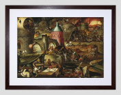 PAINTING MANDIJN (CIR.) THE HARROWING OF HELL FRAMED ART PRINT F12X11201