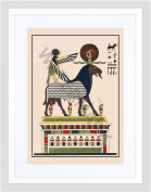 CHAMPOLLION EGYPTIAN PANTHEON IMAGERY SMALL FRAMED ART PRINT F97X13185
