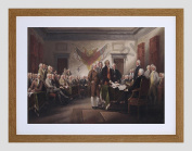TRUMBULL THE JULY 4TH 1776 DECLARATION OF INDEPENDENCE ART PRINT F12X11254