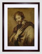 VAN DYCK WORKSHOP PORTRAIT ARTIST PETER RUBENS FRAMED ART PRINT F12X11563
