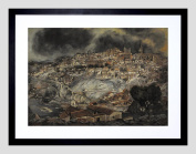 PAINTING ZULOAGA VIEW OF TOLEDO 23cm x 18cm FRAMED ART PRINT F97X12900