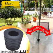 MYARD Umbrella Cone Wedge fits Patio Table Hole Opening or base 2 to 2.5 Inch, & Pole Diameter 1 3/8""