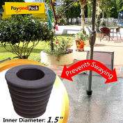 """MYARD Umbrella Cone Wedge fits Patio Table Hole Opening or base 2 to 2.5 Inch, & Pole Diameter 1 1/2"""""""