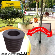 MYARD Umbrella Cone Wedge fits Patio Table Hole Opening 2 to 2.5 Inch, & Pole Diameter 1 3/8""