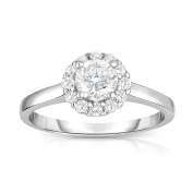 Noray Designs 14K White Gold Diamond (0.90 Ct, G-H Colour, I1-I2 Clarity) Cluster Ring