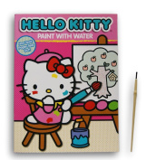 Hello Kitty Paint With Water Book and Paint Brush - 20cm x 27cm