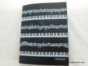 Music Themed 40 pockets Plastic Folders - Keyboard