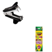 KITCYO684208UNV00700 - Value Kit - Crayola Multicultural Coloured Woodcase Pencils (CYO684208) and Universal Jaw Style Staple Remover