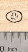 Tiny Easter Egg Rubber Stamp, with Shamrock Decoration, St. Patrick's Day, Irish