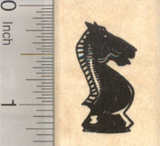 Chess Knight Rubber Stamp, Game