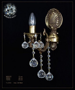 Single-lamp Baroque Crystal Ball Wall Lamps Metal Antique Brown